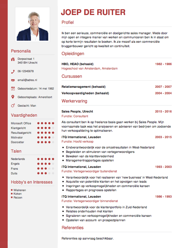 CV opstellen? Invullen en direct je CV downloaden – CV.nl