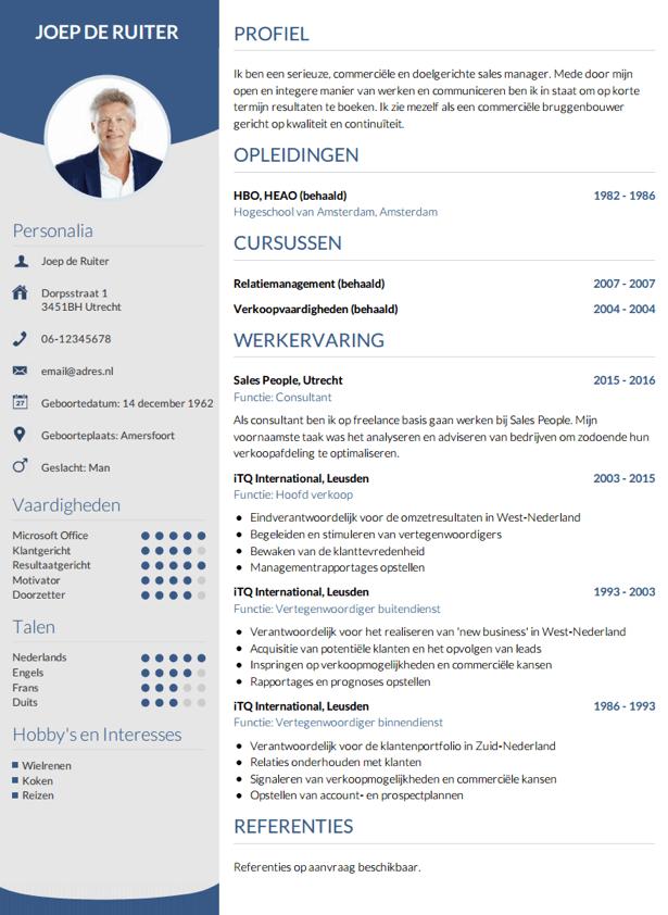 voorbeeld curriculum vitae secretaresse