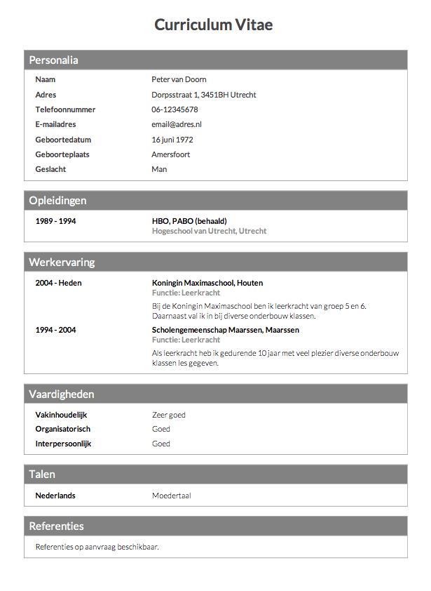 invul cv CV maken in 3 stappen? • Invullen en direct je CV downloaden   CV.nl