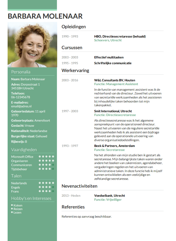 Cv Opstellen Invullen En Direct Je Cv Downloaden Cv Nl