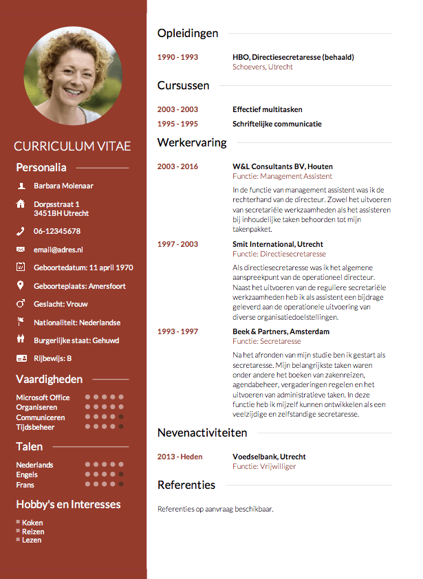 cv maken template CV maken in 3 stappen? • Invullen en direct je CV downloaden   CV.nl